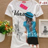 95% хлопок с круглым короткий рукав футболки изделия хрюкает petal tops верхняя одежда рубашки женщины платье