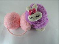 бесплатная доставка трикотажные мини-кролик зима теплые наушники, мягкий плюш повязка на голову и имитация кролик волосы наушники