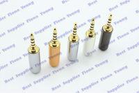 5 шт \ много 2.5 мм 4 треки стерео аудио штекер припоя адаптер для 4 мм кабель латунь разъем бесплатная доставка
