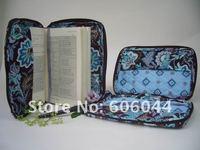 бесплатная доставка s / m / l размер java синий quilited хлопок библия крышка хорошая книга обложка бумага в смешанных цветовых решений