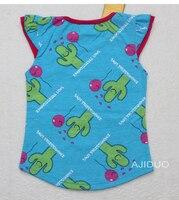 бесплатная доставка, 6 шт./лот + цена от производителя, новые дети лето дизайн одежды новорожденных девочек с коротким рукавом футболка по уходу за детьми хлопок футболки