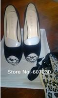 женщины бант рыба рот леопардовый платформа сексуальный показать 14 cmhigh пятки платье обувь / дамы насос shoessize : 35 - 40 l279