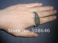 оптовая продажа одного крыло ангела кольцо elastic часы Brutal кольцо 24 шт./лот бронзовый цвет с гр rustle свободного покроя палец кольцо серебро + черный