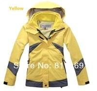 желтый ЛГ куртка женская женский три не удалить вкладыш ватки тепловой походы на открытом воздухе водонепроницаемый западе одежда