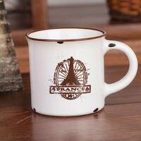 молока керамические чашки эмаль стиль кружка кофе новизна домохозяйства закки четыре варианта дизайна бесплатная доставка