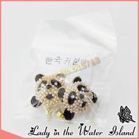 мода животных панда черный серьги оптовая продажа звезда любимый Solo покрытие Spike для женщин бесплатная доставка