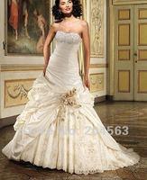 бесплатная доставка конструктор режиме off-плечи тафта свадебное платье с декольте любой размер / цвет опт/розница