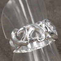 значит заказ 925 Серра ювелирных изделий, три сердца, стерлингового серебра 925 кольца кольца Brutal, Brutal обручение кольца r090