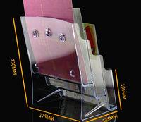 ясно А5 3 RUS пластик брошюра литература дисплей стойки date brochure Stand Stack список на рабочем столе 30 шт