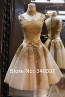 готов к 2 цвет белый желтый в магазин кружево вечернее платье для выпускного бала короткие под $ 60 + бесплатная доставка