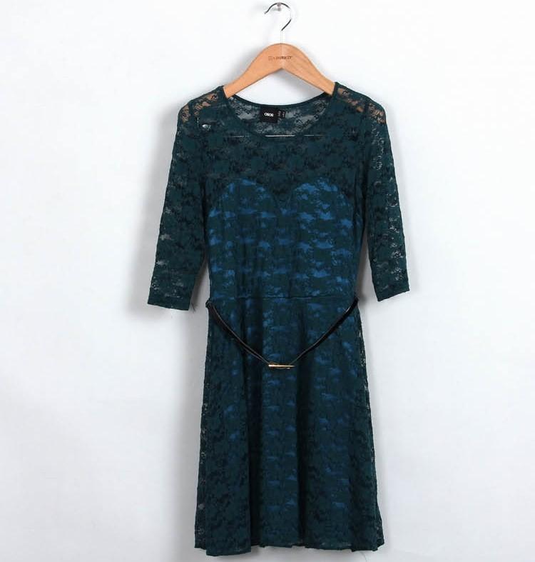 бесплатная доставка весной новый Европа и американский конвертировать цвета женщин полный kruger платье с POS принять прямая поставка