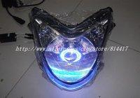 ЭМС бесплатная доставка! ксеноновые проектор для мотоцикла, мотоцикл проектор комплекты, приходят с балласт, лампы, плащаница, глаза ангела