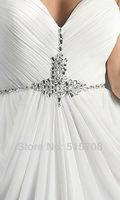 элегантный оболочка рукавов милая бисероплетение длинные дешевые шифон формальные платье невесты пром вечерние платья бесплатная доставка