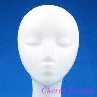 бесплатная доставка белый пластиковый женский манекен для подражания волосы шляпа