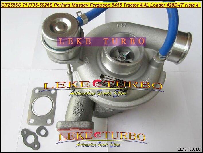 GT2556S 711736-5026S Turbocharger For Perkins Massey Ferguson Agricultural 5455 Tractor 4.4L 03- Loader Backhoe 420D-IT vista 4