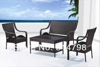 открытый ротанга диван, из пэ ротанга и стали с покрытием, меры 60,5 х 58 х 85.5 см