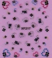 50 шт./лот смешать цвет 10 видов ядер 3д своими руками гвоздь наклейки, красивая сбой маникюр xf215-224