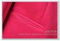 женский костюм блейзер складная рукава пальто, мода дамы конфеты цвет костюм, бесплатная доставка, горячие продаж