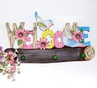 сад стиль красочные вешалки / одежда вешалки / вешалки дерево / стена украшение