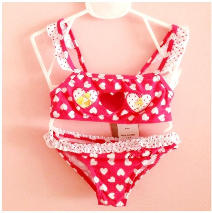 девушка в бикини прекрасный форме сердца 6 - 18 мес. дети купальники детская пляж поставки