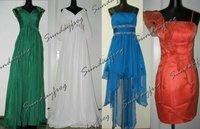 бесплатная доставка на заказ платье-линии бисером одно плечо милая длиной до пола шифон вечернее платье платье макс - ls5036