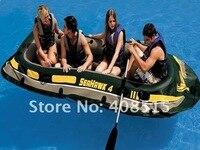 5516 интекс НД bark canoe матрас 4 рыба lanka для 4 человек