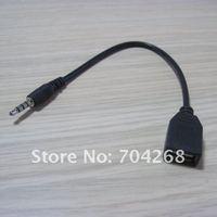 синхронизации и заряд 3, 5 мм через часть аудио к порт USB 2.0 тип в женское преобразователь кабель шнур для MP3 и iPod