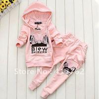 девочки-младенцы / мальчики одежда комплект хлопок спорт комплект фиолетовый / розовый / серый цвета комикс костюмы