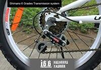 """6 типа с Пермский скоростью 20 """" clad GR велоспорт велосипед двойной амортизаторы задняя и передняя в термин СД велосипед - красный"""