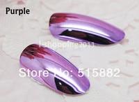 24 шт. металлический бревно ногти полное покрытие зеркало сияющий Сделай сам маникюр советы бесплатная клей