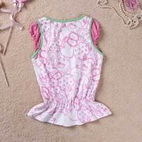 дети лето пляж одежда девочки цветок топы милый лето топы, 100% хлопок
