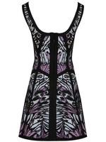 роскошные элегантный печатных майка эластичная трикотажная бандажное платье ну вечеринку вечерние платья новое поступление hl701