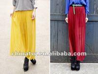 eb1630 простой дизайн платье-линии дамы плиссированные длинные юбки