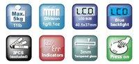 цифровые кухонные весы масса с голубой подсветкой и кнопки касания