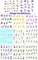 11 дизайн вода ногтей наклейки наклейка павлин перо бесплатная доставка
