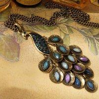 бесплатная доставка ожерелье, старинные павлин великолепный европейский, оптовая продажа мода ювелирных изделий, новый