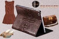 новый крокодил зерна кожаный чехол для iPad от Apple, 2 / 3 / 4 флип-крышкой чехол с подставкой для айпад 2 / 3 / 4 прямая поставка