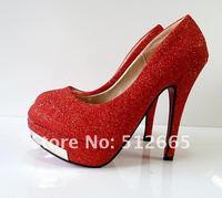 Blur красный туфли на блок. Shaman брак с красной padova туфли