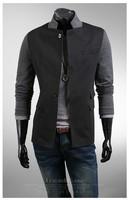 зима пиджак мужчины сплайсинга цвет куртка костюмы для мужчины вкладыш пальто конструкции мужчины костюм приталенный воротник-стойка