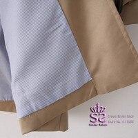 осень двойной карманы длинная рукава женщины гороха пальто женское британский стиль хаки цвет размер S м L