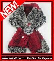 красочные шарф! aklsr1114 Рекс-колики шарф. вязать Рекс-колики шарф, GR шеи, мех plato для женщин. прямая поставка / оптовая продажа