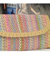 бесплатная доставка женская сумка лоскутное переплетения сумки с длинная цепь день клатчи мода сумки должны vke20