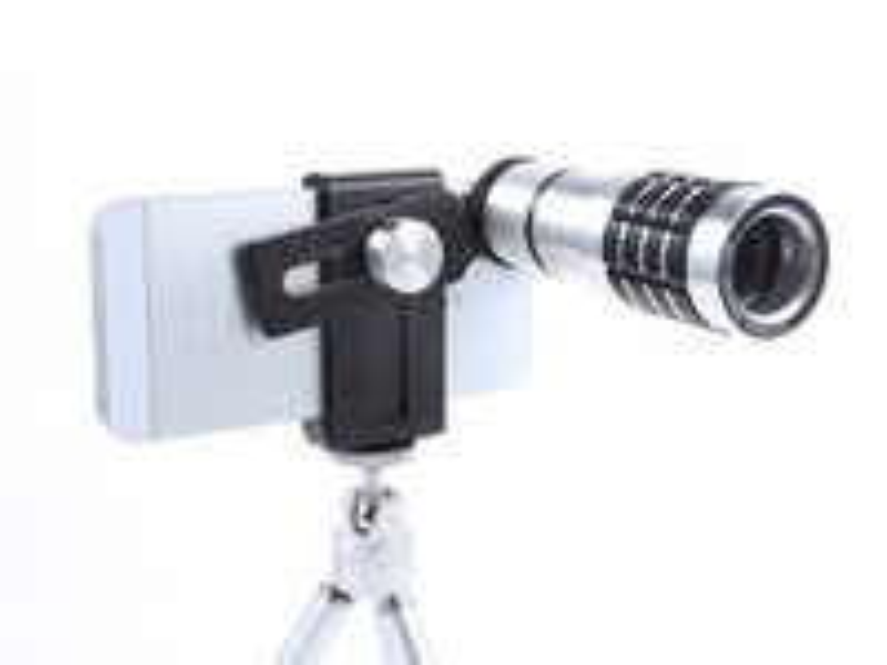 12х увеличение мобильного телефона телескопа лупа оптический объектив камеры со штативом + держатель + твердый переплет чехол для iPhone 4 и 5