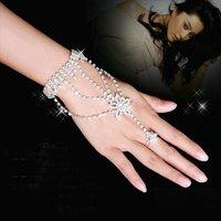 бесплатная доставка браслет невесты свадебное платье алмаз в спины из браслет-цепочка топ мода