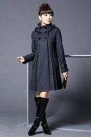 женщины в шерсть кашемир зима благородный длинная пальто чистый цвет, 4 цвета на выбор, м-XXL, v192