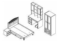 ни бесплатная доставка 4 шт. новый полный размер спальный гарнитур мдф панели детская мебель книга чехол