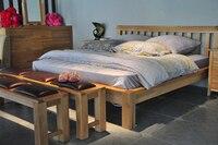 кровать деревянная, из твердой древесины кровать, дубовая мебель, мебель для дома