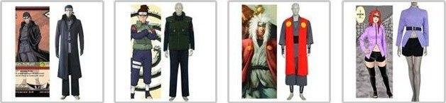 Discount Anime Naruto Cosplay - Apparel Naruto Akatsuki Kakuzu Cosplay Costume Set Free Shipping 9