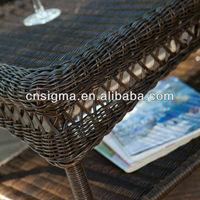 открытый патио мебель смола плетеная разговор комплект