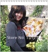 рождественский подарок мультфильм медведь кукла букет два пара подарок оптовая продажа новый Уэйд букет / подарок на день рождения + бесплатная доставка х4